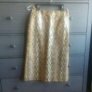 Snakeskin skirt genuine